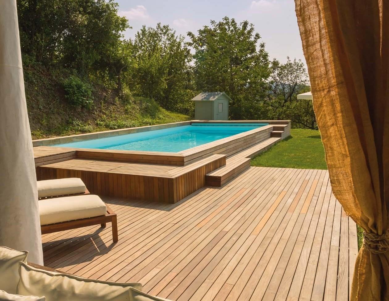 Piscine Da Esterno Rivestite In Legno il fascino di una piscina in legno da esterni - piscina service