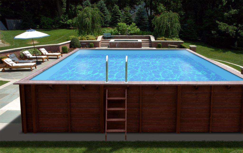 piscina in legno